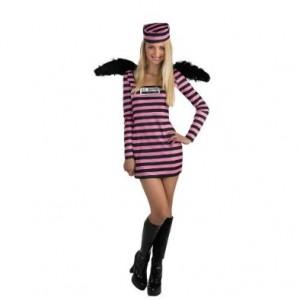 Jailbird Teen Prison Costume