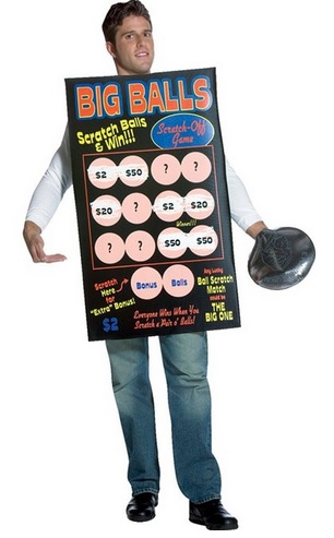 Lottery Ticket Costume