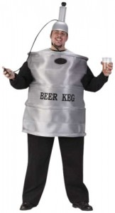 Mens Beer Keg Costume