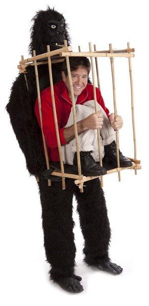 man in gorilla cage costume