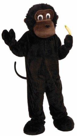plush gorilla mascot costume