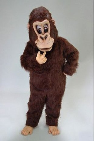 brown gorilla costume