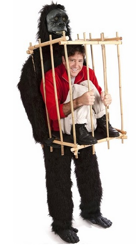 funny Gorilla and Cage Costume Kit