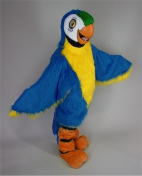 blue macaw bird outfit
