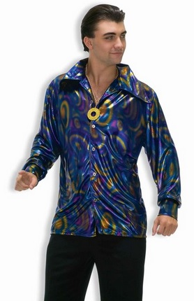 cool 70's disco shirt for men