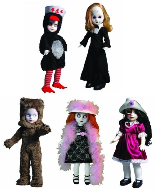 living dead scary dolls set