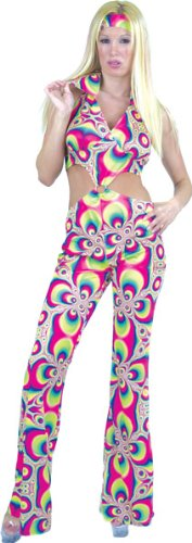 Psychedelic Disco Girl Costume
