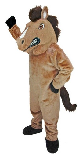 angry horse mascot suit