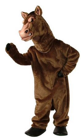 Stallion Mascot Costume for Adults