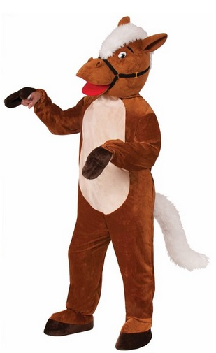 cheap horse plush costume for adults