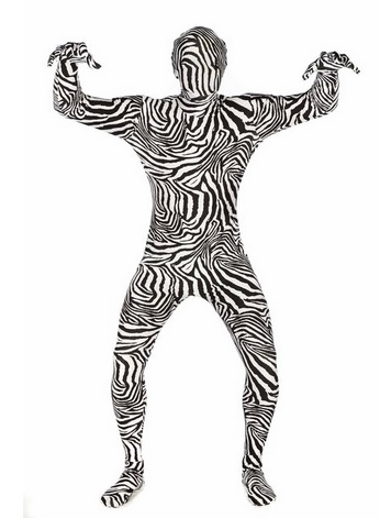 Cool Zebra Morphsuit for Adults