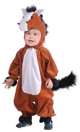 cute plush horse costume for kids