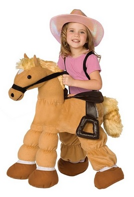 Cute Plush Pony Child Costume