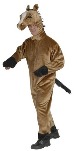 plush horse costume for men