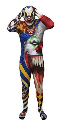 Scary Clown Skinsuit for Adults