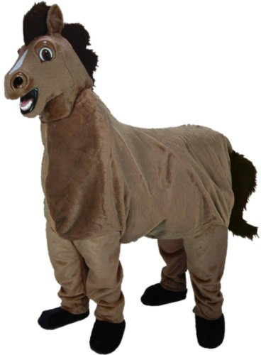 Two Person Funny Horse Mascot Costume