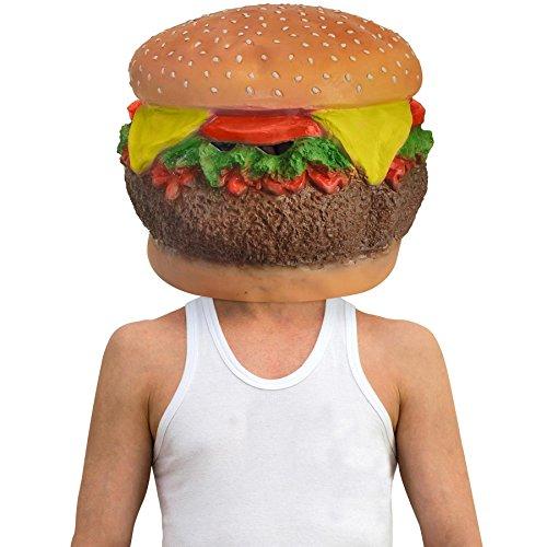 Cheeseburger Fast Food Full Head Mask