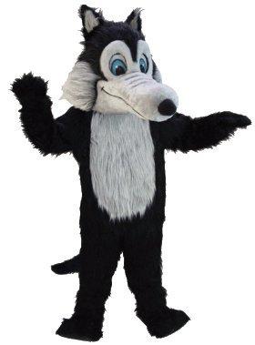 Black Wolf Lightweight Mascot Costume