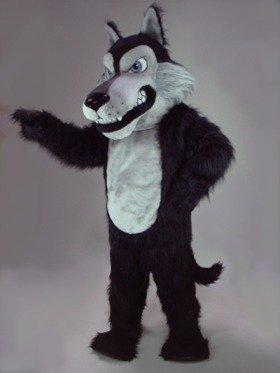 Scary Black Wolf Mascot Costume