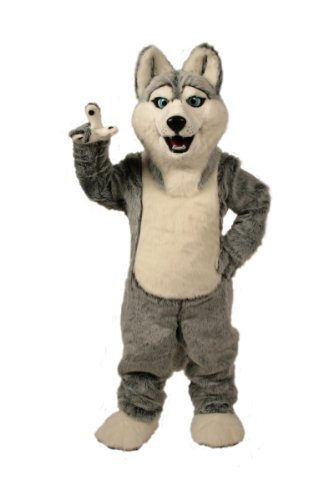 Cute Husky Plush Mascot Suit for Adults
