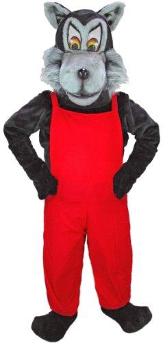 Big Bad Wolf Mascot Costume for Adults