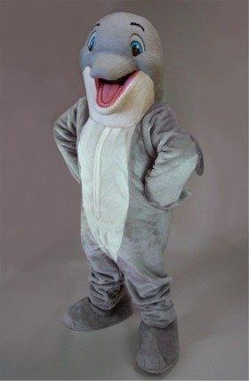 Happy Dolphin Mascot Costume