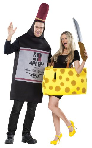 Adult Wine and Cheese Couple Costume