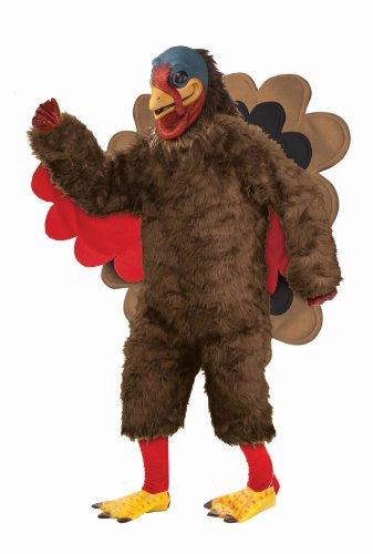 Plush Turkey Mascot Costume