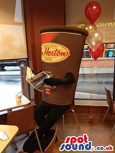 Big Brown Coffee Cup Mascot Costume