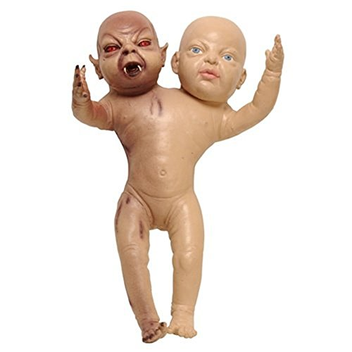 Two Headed Devil Twin Newborn Doll Prop