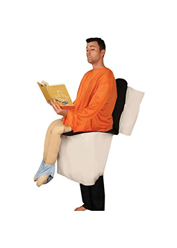 Sitting on a Toilet Party Pooper Adult Costume