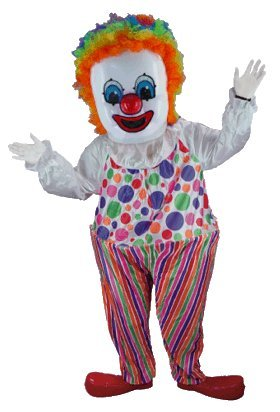 Happy Clown Lightweight Mascot Costume